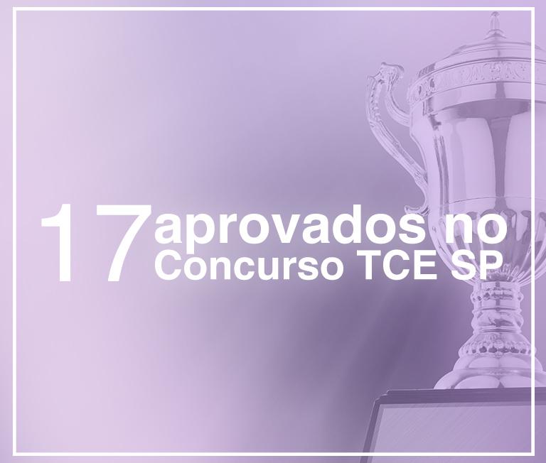 alunos aprovados no concurso público TCE SP 2017