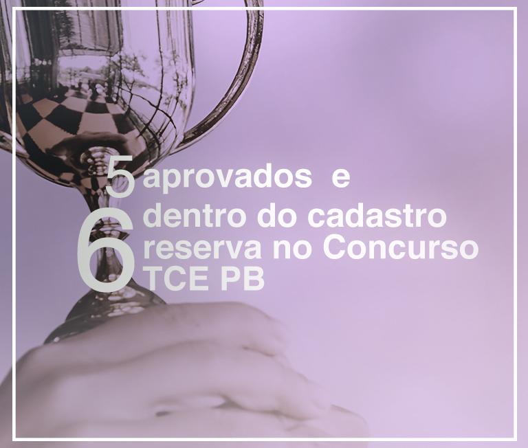 Aprovados no concurso TCE PB 2017